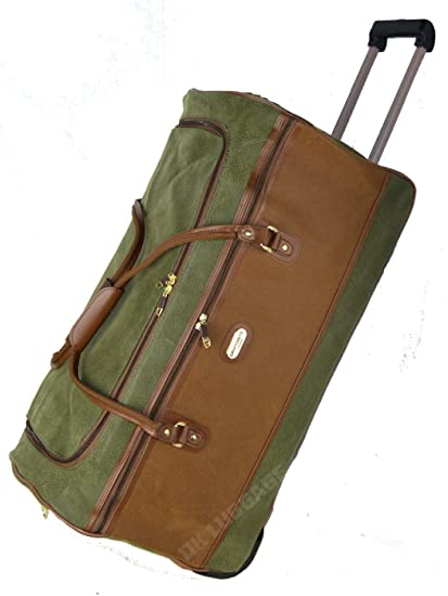 85d96182c200 Faux Suede Travel Luggage Wheeled Trolley Cases Holdall Suitcase Duffle Bag  (Large (27