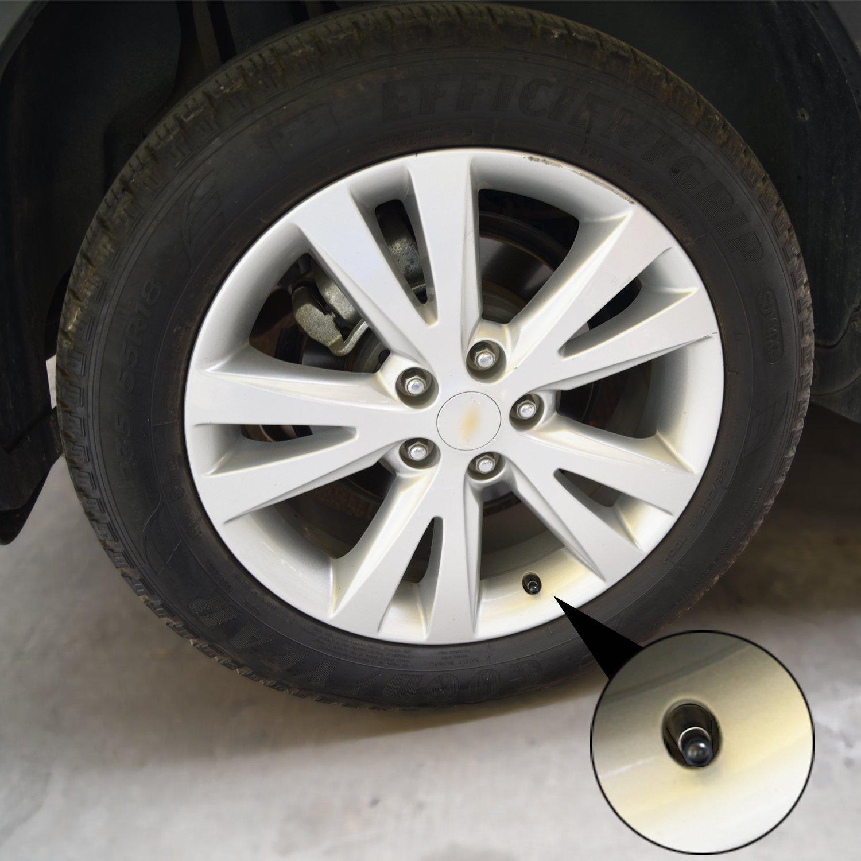 SUNMNS Tappi antipolvere per valvole di pneumatici di auto confezione da 24 autocarri e bicicletta moto colore: nero in plastica
