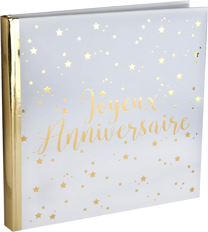 SANTEX 5664-1 - Livre d'or Joyeux Anniversaire métallisé