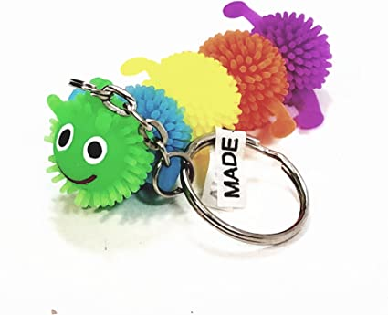 3 pc Key chain Soft rubber squeeze Coin Holder Pinata Bag Filler Party Favour