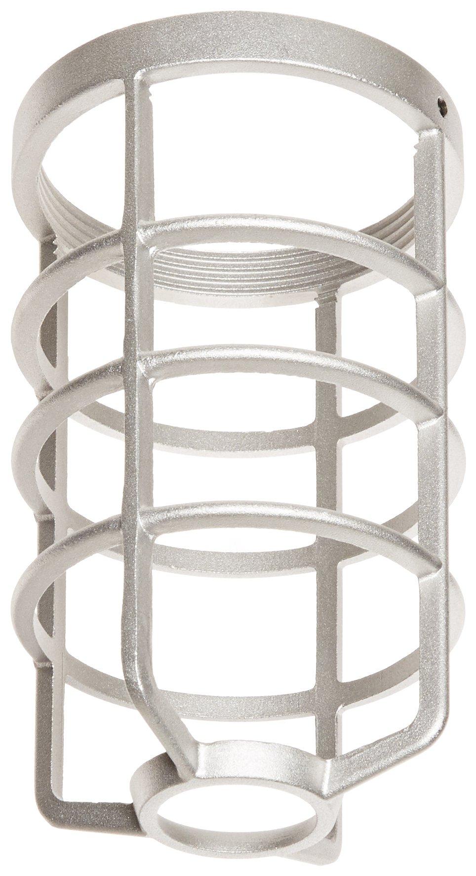 RAB Lighting GD100DG 100 Series Vapor Proof Round Bottom Clamp Guard, Die Cast Aluminum, Natural