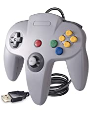 suily N64 Game Controller, Classic N64 Bit USB Controller für Windows PC MAC Linux Raspberry Pi 3, Grau