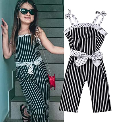 0871b962e Franterd Baby Black Floral Rompers with Big Wide Leg Pants, Kid Loose Playsuit  Jumpsuits One