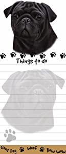 """Pug """"Magnetic List Pads"""" Uniquely Shaped Sticky Notepad Measures 8.5 by 3.5 Inches"""
