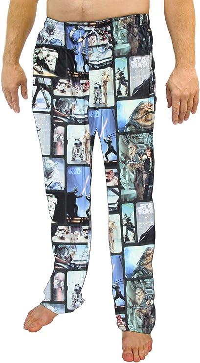 Star Wars Trilogía Original del Hombre Personaje Microforro Polar Pantalones Pijama de Felpa