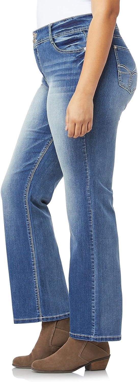 WallFlower Jeans Womens Plus-Size Luscious Curvy Bootcut Jeans