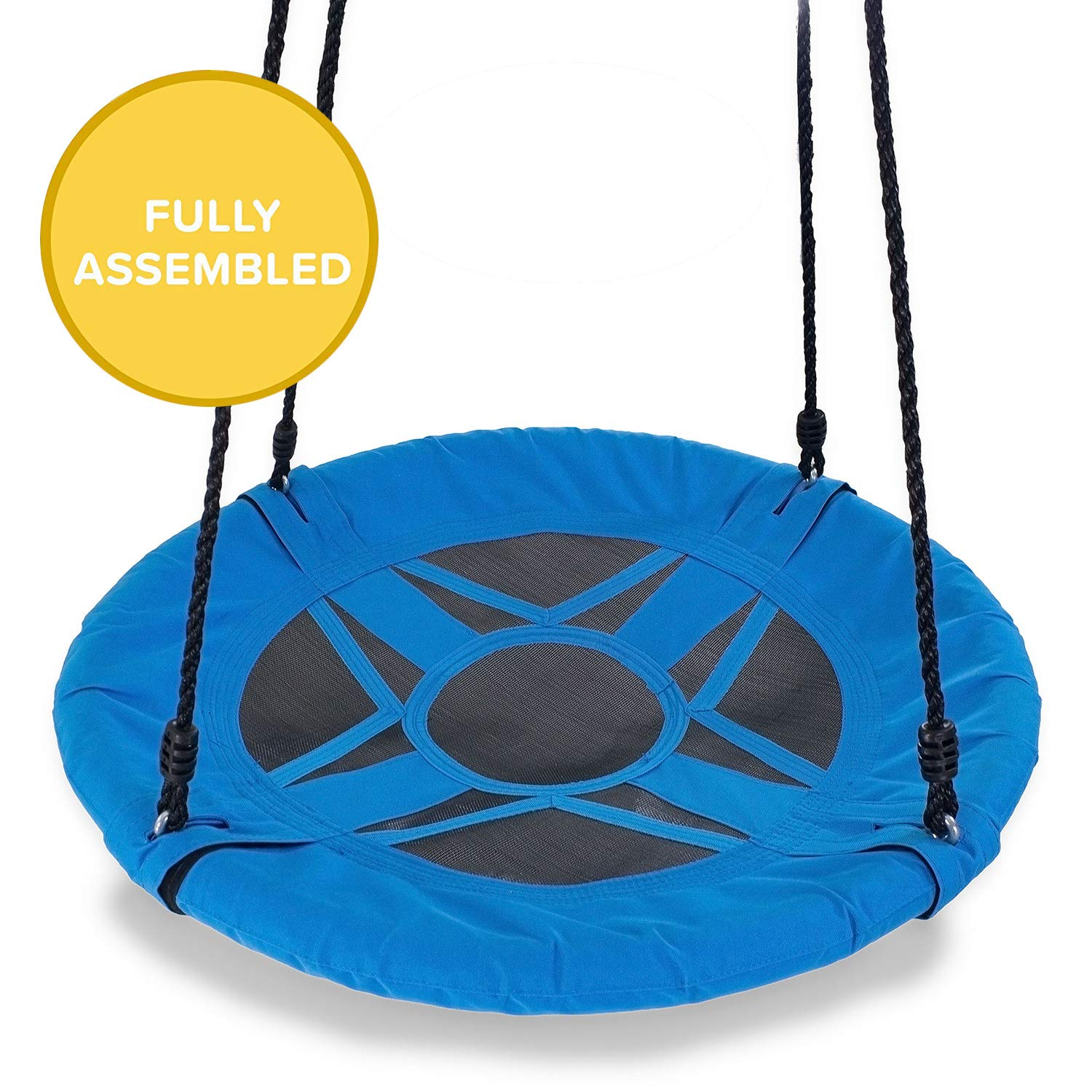 Play Platoon Flying Saucer Tree Swing - 400 lb Weight Capacity, Fully Assembled, Easy to Install Easy Setup