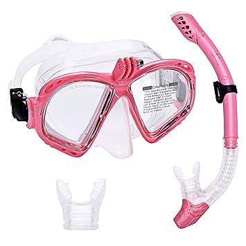 Supertrip Premium – Set de snorkel para adultos con 2 boquillas y máscara de buceo con