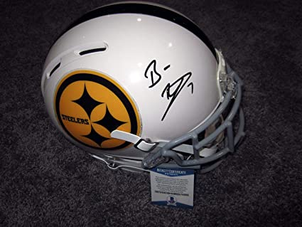 92c3ca43c9d Ben Roethlisberger Signed Helmet - Full Size Custom w BAS COA - Beckett  Authentication - Autographed