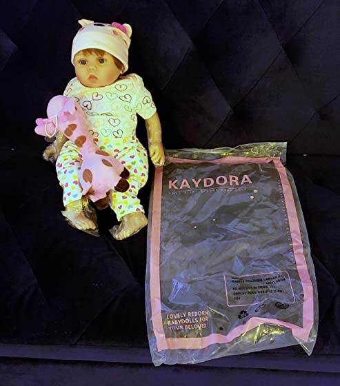 Kaydora Reborn Baby Doll Girl 22 Inch Lifelike Real Baby Doll Reborn, Named Lucy High quality. Very realistic.