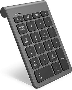Teclado numérico inalámbrico Bluetooth, Teclado numérico 22 Teclas Bluetooth Extensiones de tecladopara Data Entry de Contabilidad financierapara ...