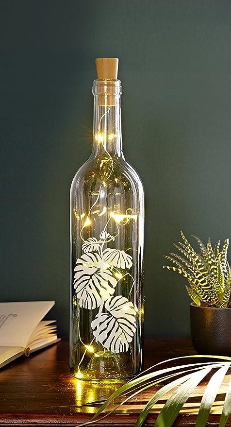 Tfh Led Windlicht Flasche Jungle Tischbeleuchtung Gartenbeleuchtung