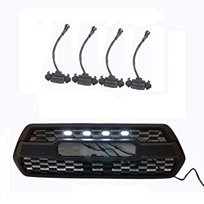 ZGAUTO Grille LED Lights Fit for TACOMA TRD Grille 2016 2020 2020(4 Piece,Black): Automotive