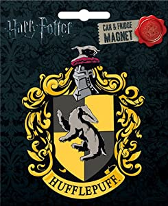 Ata-Boy Harry Potter Die-Cut Hufflepuff Crest Magnet for Cars, Refrigerators and Lockers