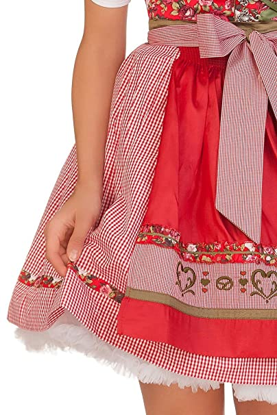 443e1fe856a2f3 Trachten Minidirndl 2tlg. - DUNJA - rosé, rot: Amazon.de: Bekleidung