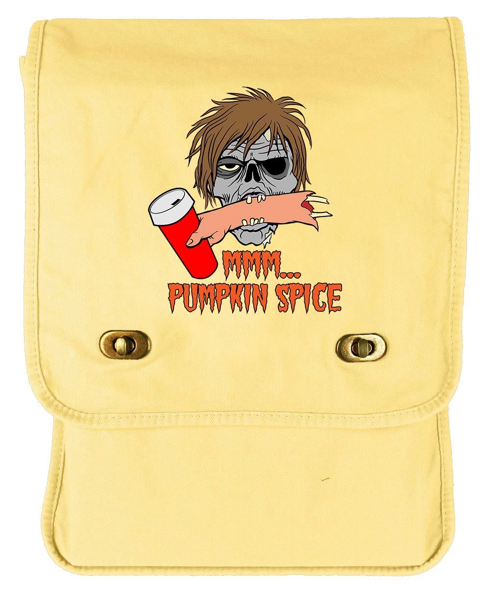 Tenacitee Zombie Pumpkin Spice Red Brushed Canvas Messenger Bag