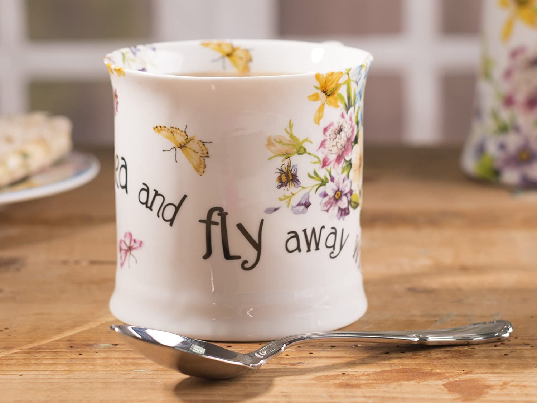 "11 fl oz 350 ml Katie Alice /""English Garden/"" Blue Tankard Mug by Creative Tops"