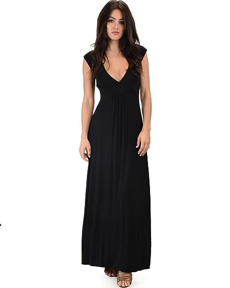 be99eb5ef58 Lyss Loo Women s Sweetest Kiss Short Sleeve Maxi Dress Plain Loose ...