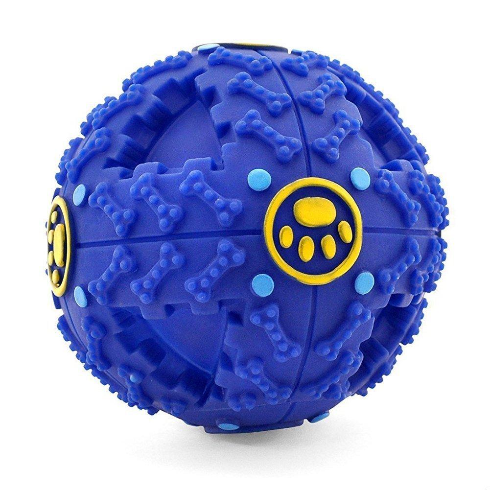 SONTORY Original Interactive Trick and Treats Dispensing IQ Ball Premium Pet Toy (Blue)