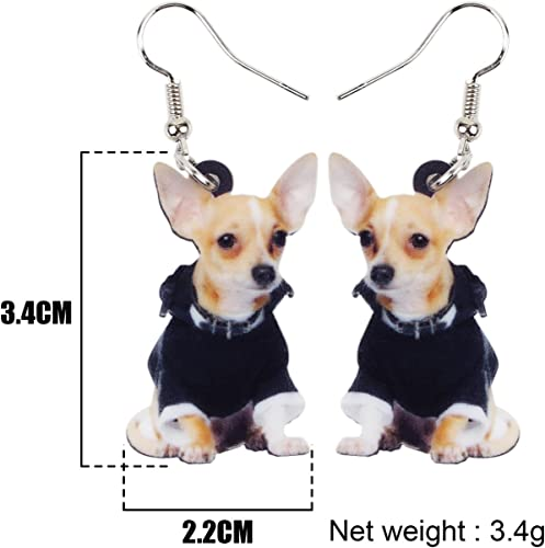 1PairFashion Women Lovely Chihuahua Dog Stud Earring Casual Puppy Animay1