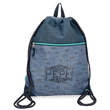 Pepe Jeans Pierce Mochila Tipo Casual, 42 cm, 0.67 litros, Azul: Amazon.es: Equipaje