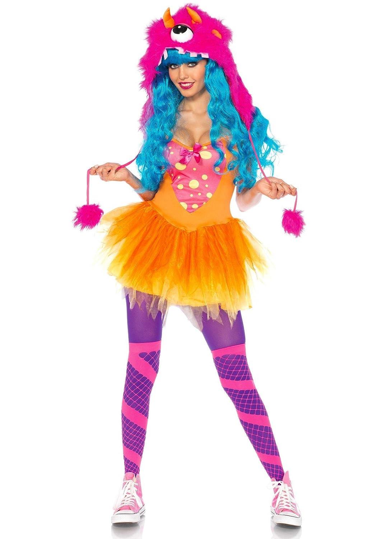 fe76682bd Leg Avenue Women's 2 Piece Shaggy Shelly Tutu Dress And Furry One Eyed  Monster Hood