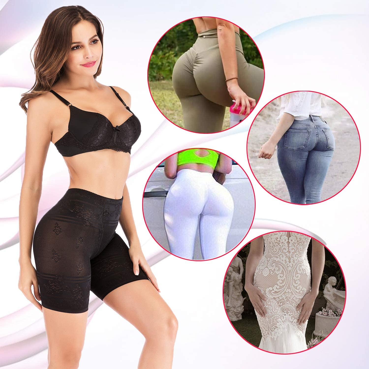 OMG/_Shop Invisable Body Shaper High Waist Tummy Control Butt Lifter Panty Thin Thighs