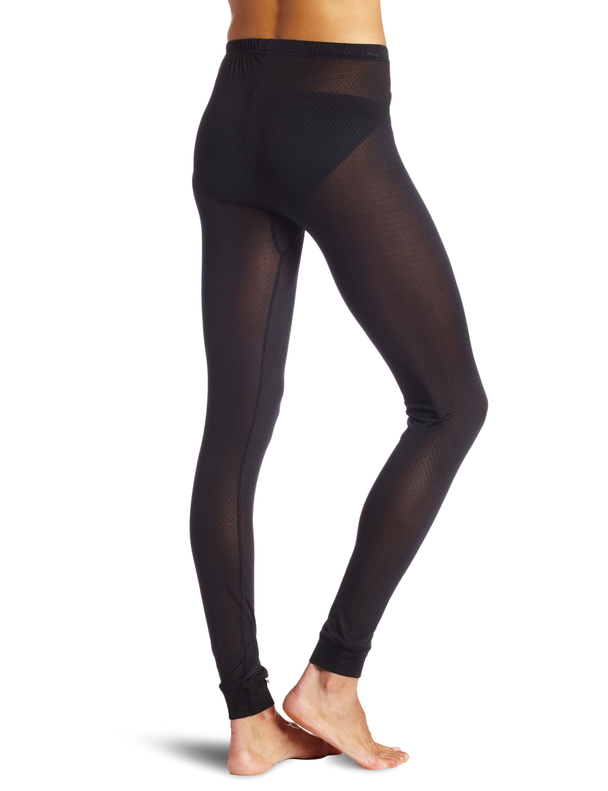 Terramar Women's Thermasilk Pointelle Pant (Black, Small) by Terramar (Image #2)