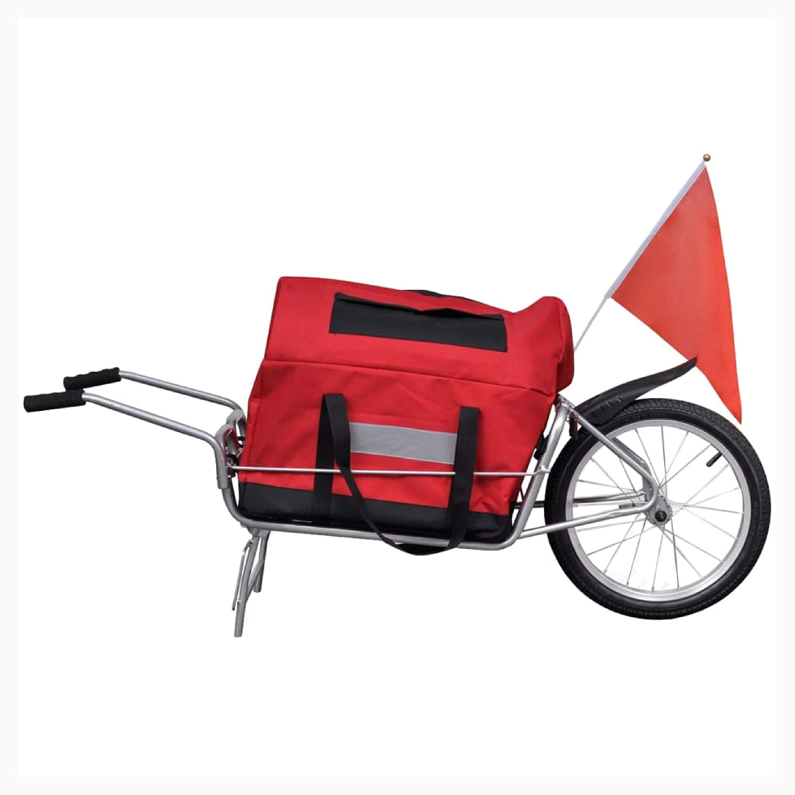 K&A Company Bicycle Trailer One-wheel with Storage Bag by K&A Company