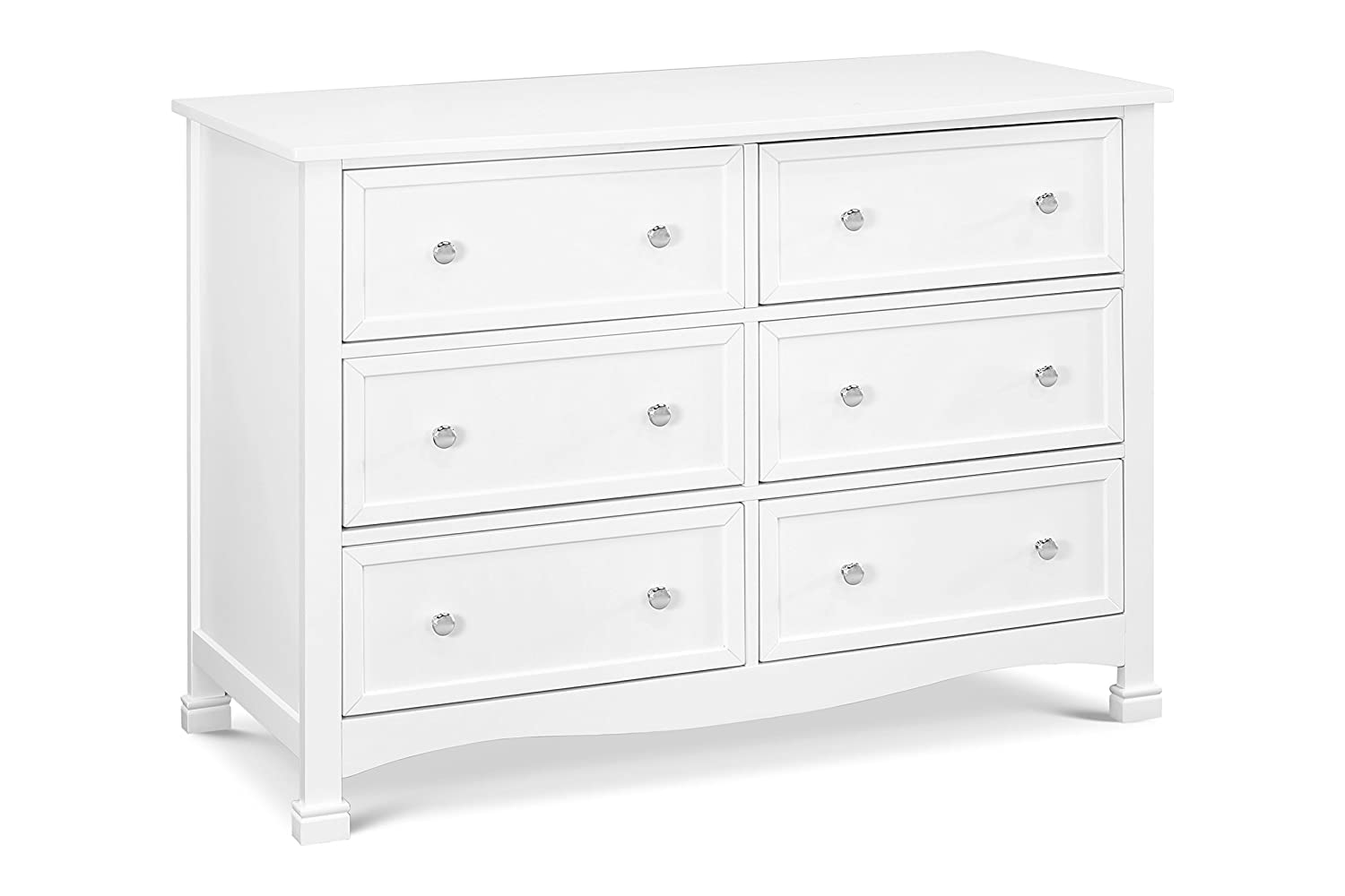 DaVinci Kalani 6 Drawer Double Wide Dresser, White M5529W
