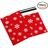 Pack4Life 10x13 Winter Poly Mailers with Elegant Snowflake Patterns Holiday Self Sealing Shipping Envelopes Bags Pack of 100