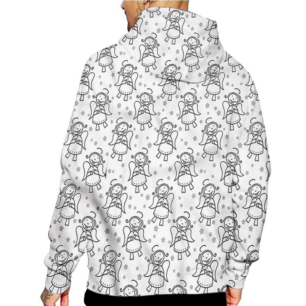 flybeek Hoodies Sweatshirt/Men 3D Print Anemone Flower,Branch of Flower,Sweatshirts for Men Prime