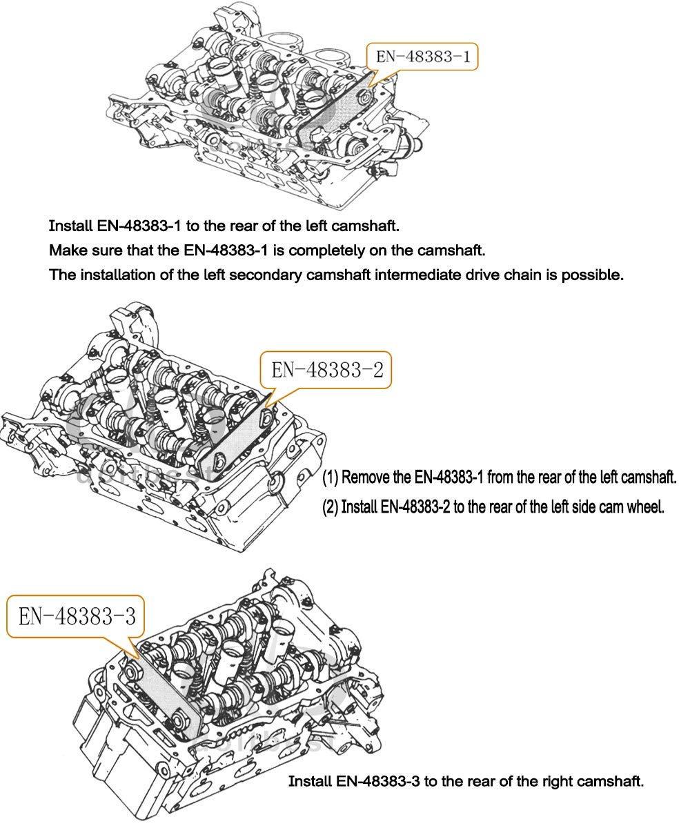 JMgist EN-48383 EN-46105 GM Camshaft Retaining Holding Tools Timing Tool for Vauxhall//Opel//Saab//Cadillac//Buick//Chevrolet//Pontiac