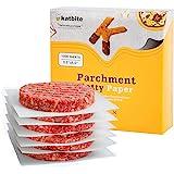 "Katbite Hamburger Patty Paper 1000Pcs, 5.5""x5.5"" Non Stick Parchment Paper Squares Sheets for Patty Serperate, Burger Press,"