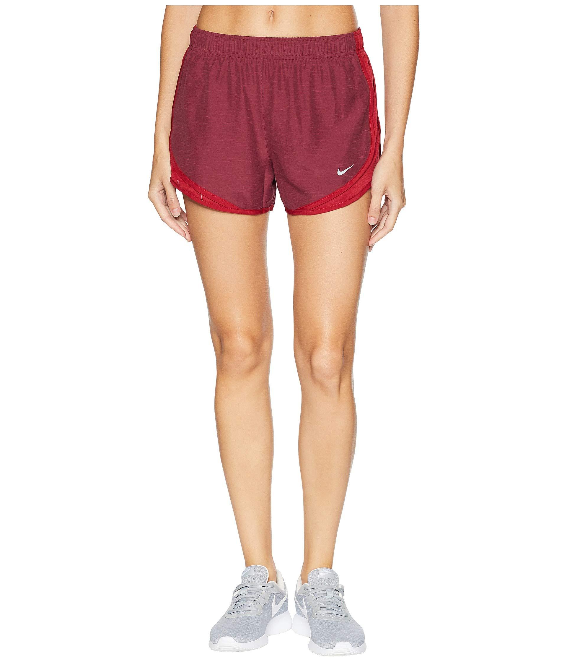 Nike Women's Dry Tempo Short Red Crush/Red Crush/Red Crush/Wolf Grey X-Small 3 by Nike