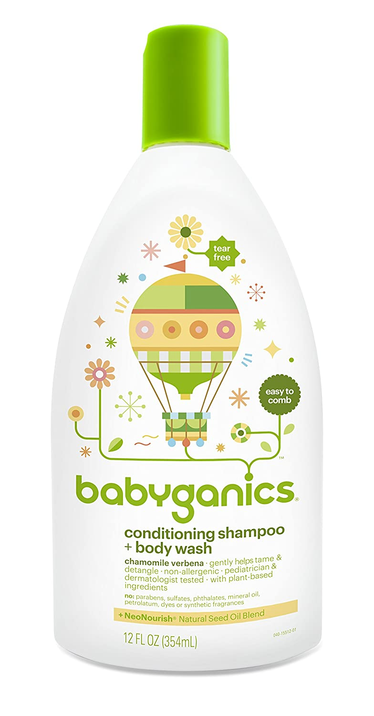 95cd12721929 Amazon.com: Babyganics Conditioning Fragrance Free Baby Shampoo and Bodywash,  3 Count: Health & Personal Care