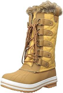 Amazon.com | Women's DailyShoes Woman's Knee High Up Warm Fur ...