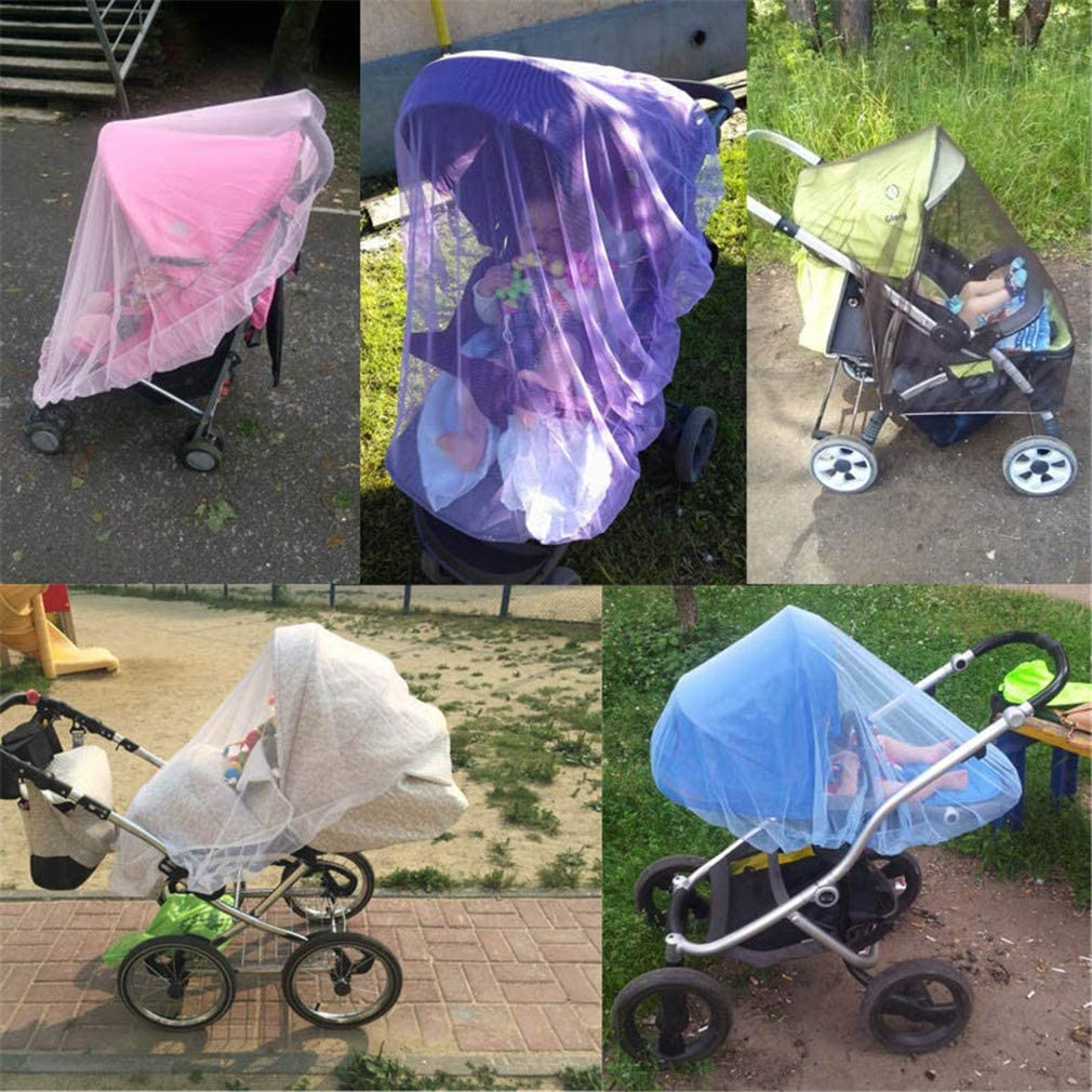 Guoshang Stroller Mosquito Net Cradles Cribs Anti Insect Breathable Netting for Summer Outdoor,Blue