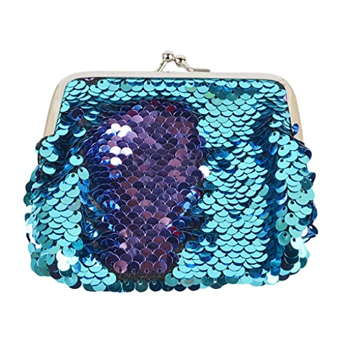 Amazon.com: WFeieig Kid Coin Purse Girl Mermaid Sequin Mini ...