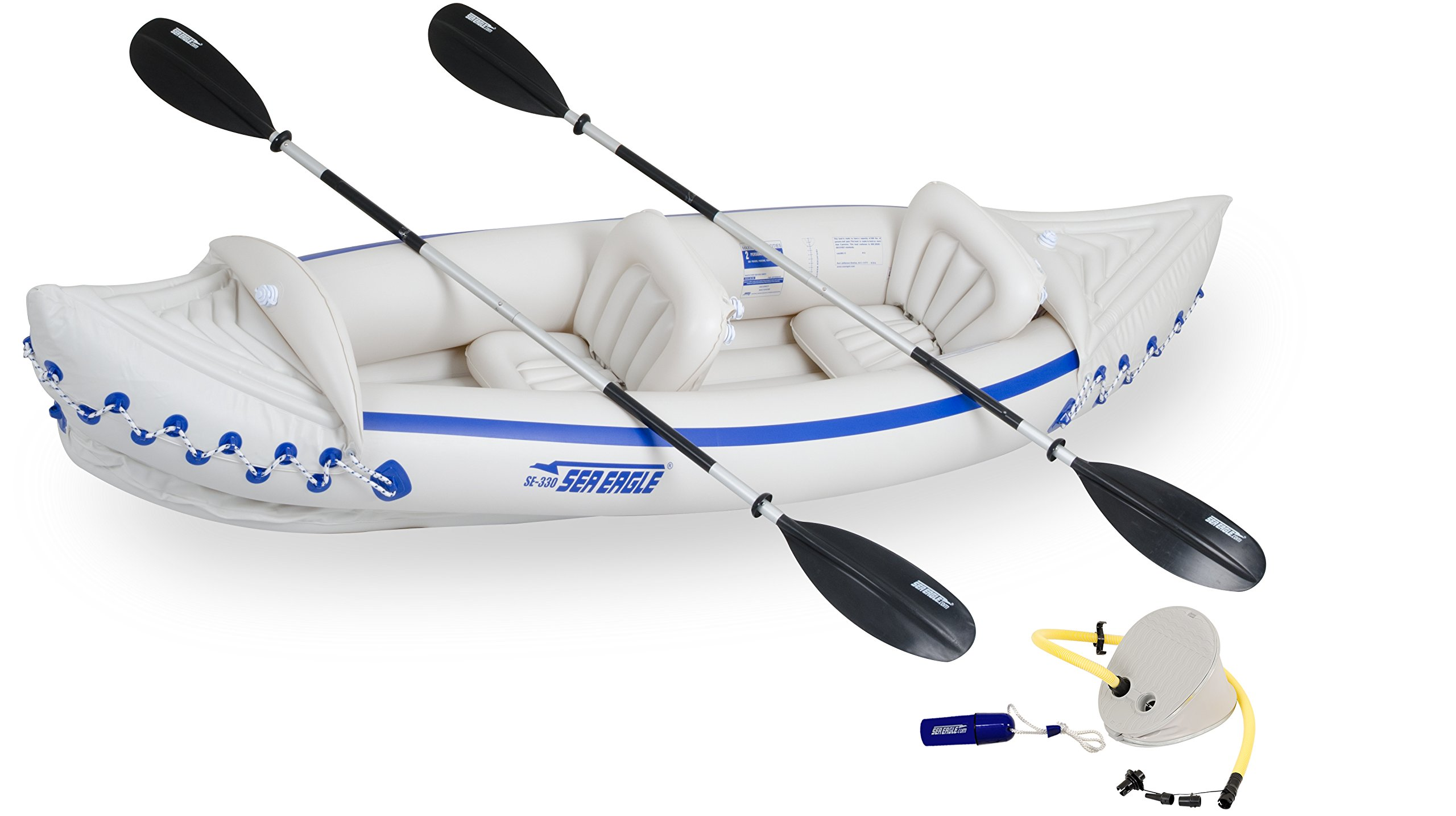 Sea Eagle SE330 Inflatable Sports Kayak Start Up Package by Sea Eagle