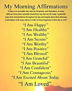 Gifts Delight Laminated 24x31 Poster: Essential Oils and The Law of Attraction BioSource Naturals Raising, Morning Affirmations and