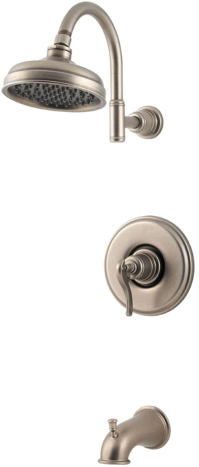 Pfister 808-YP0E Ashfield Tub & Shower Faucet in Rustic Pewter - Tub ...