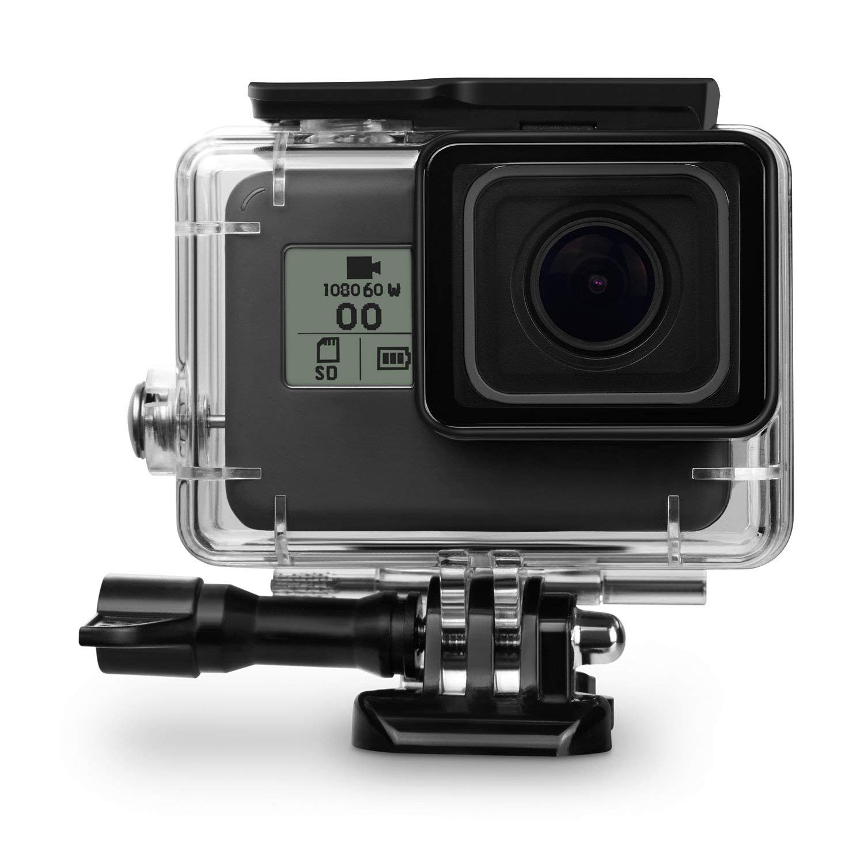 Fitstill GoPro Hero 7 /6 /5 (2018)フレームケースシェル+4個スクリーンプロテクター+シリコン保護レンズカバー (SINGLE LOCK Hero 7/6/5 Dive Case)   B07K23Q1WK