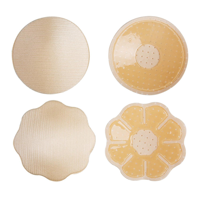 12f576a1f6 2 Pairs Reutilizable Auto Adhesivo Invisible Silicona Empanadas Cubierta De  Pezón Pecho Almohadillas Pezoneras para Mujer