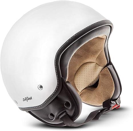 "57-58cm Moto Helmets/® H44 /""Camouflage/"" /· Jet-Helm /· Motorrad-Helm Roller-Helm Scooter-Helm Bobber Mofa-Helm Chopper Retro Cruiser Vintage Pilot Biker Helmet /· ECE Visier Schnellverschluss Tasche M"