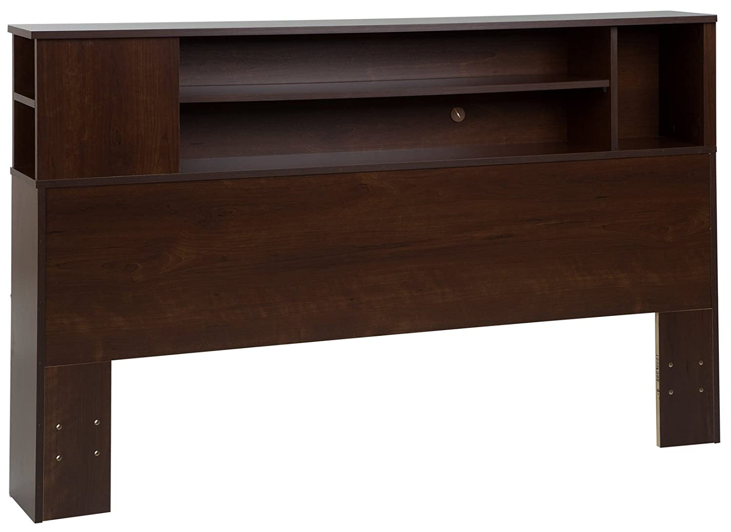South Shore Vito Bookcase Headboard with Storage, Full/Queen 54/60-inch, Sumptuous Cherry