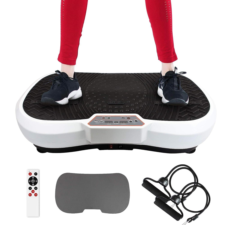 69 x 39 x 13 cm Vibrationsplatte Vibrationstrainer Machine Widerstandsb/änder /& Yogamatte mit Fernbedienung Sotech Fitness Vibrationsger/ät 180 Stufen