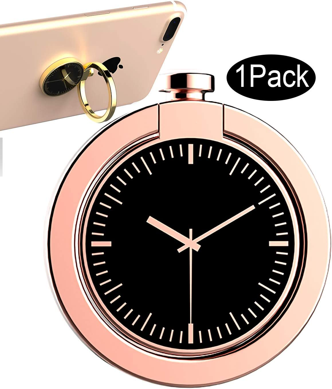 CaseHQ Rosegold Cell Phone Ring Holder, 360 Degree Rotation, Finger Grip Stand Holder Car Mount for iPhone X,iPhone 8/8 Plus 7/7plus ipad Tablet Samsung Galaxy s9 S9plus S8/S8 Plus Edge Ring Holder