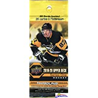 2019/20 Upper Deck Series 1 NHL Hockey HUGE Factory Sealed Jumbo FAT PACK with 26 Cards! Look for Young Guns Rookies of JACK HUGHES, Quinn Hughes, Victor Olofsson, Alexandre Texier & More! WOWZZER!