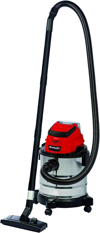 Einhell 2347131 aspirador agua/polvo (inalámbrico tc-vc 18/20 Li, rojo: Amazon.es: Bricolaje y herramientas